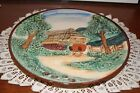 VINTAGE....ESTATE...COUNTRY COTTAGE SCENE....COLLECTOR'S WALL PLATE...JAPAN