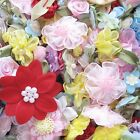 50pcs x Assorted Ribbon Flower Appliques Satin Organza Felt PICKED BY RANDOM AR1