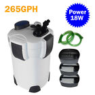 External Aquarium Filter 3-Stage 265GPH 75Gallon w/built-in pump kit Canister