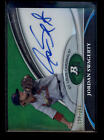 JORDAN SWAGERTY 2011 BOWMAN PLATINUM GREEN REFRACTOR ROOKIE AUTO # 399 AC6660