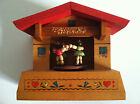 Vintage Swiss Wooden Music Box Swiss Musical Chalet #1393 Plays London Bridge