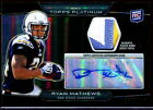 2010 Topps Platinum RYAN MATHEWS Eagles Chargers (3 Color) RC Patch Auto - 99