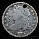 Love Token Engraved Counterstamped Roy on 1833 Bust Dime 10c Silver Ten Cent.