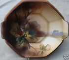 HAND PAINTED NIPPON DECORATIVE MORIAGE BOWL~FRUIT BERRIES PODS LEAVES~ENAMEL