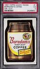 1967 Topps Wacky Packs #1 BOREDOM'S COFFEE Die Cut PSA 3 VG Packages