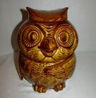McCoy Wise Old Owl Cookie Jar Great Condition Retro Kitchen Decor #204 USA