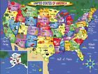 White Mountain Puzzles USA Map - 300 Piece Jigsaw Puzzle New