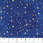 Prancer Blue Stars Starry Night Christmas Stonehenge Quilt Fabric by the 1 2 yd