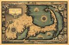 1930s Cape Cod Historic Old Wall Map - 20x30