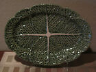 BORDALLO PINHEIRO PORTUGAL HAND MADE LARGE Oval Green Cabbage serving platter