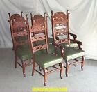 Antique Oak Set of Matching Dining Chairs – Set of eight