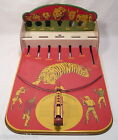 WOLVERINE WILD KINGDOM LIONS & TIGERS TIN TOY SHOOTING GALLERY TARGET TOY 1950s