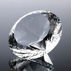 Huge Crystal Clear Paperweights Cut Glass Giant Diamond Wedding Decor Gift 200mm