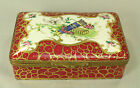 = Antique Sevres Style French FINE Porcelain & Gilt Brass Box, Hand Painted