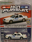 GREENLIGHT 1:64 DIECAST METAL NEW YORK CITY WHITE 2008 FORD CROWN VIC POLICE CAR
