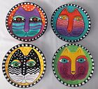 Laurel Burch 4 Cat Collector Dinner 8' plates New FREE SHIPPING