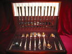 Camille Silverplate Dinner Set & Chest Vintage Deepsilver Flatware 84 piece Lot