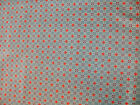 1 yd Windham Quilting Fabric Reproduction Cat in the Manor Orange Blue Plaid