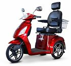 RED Fast 3 Wheel Mobility Scooter EW 36 Alarm Batteries Delivery Basket