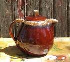 Vintage HULL Brown Drip Teapot with Lid USA Oven Proof