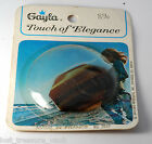 Vintage 1970's Gayla Elegance Edged Oval Solid Hair Barrette France Dead Stock