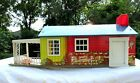 RARELY AVAILABLE 1960s Wolverine Toy Tin Ranch  Doll House w/ Opening Front Door