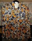 Vintage Escada Hunting Dog Silk Blouse with chain and spotted print 1990 90's