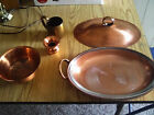 VINTAGE COPPER LOT GREGORIAN CASSEROLE DISH MIXING BOWL MUG &