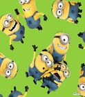 NEW Despicable Me Tossed Minions 59 inch Fleece Fabric by the YARD