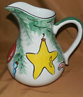 HEREND Village OLD FASHIONED CHRISTMAS Ornament Holiday POTTERY Pitcher 7 3/4