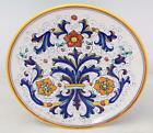 Beautiful Vintage Deruta Italy Ceramic Hand Painted Floral Larger Wall Plate 13