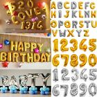 16 40 Gold Foil Letter Number Balloons for Birthday Party Wedding Decoration