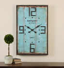 Farmhouse French Style Antiquite Distressed Wall Clock Rustic