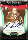 2006 Press Pass Legends Platinum Blue Ink Autograph Fran Tarkenton Bulldogs 25