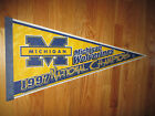 1997 MICHIGAN WOVERINES National Champions 30 Pennant