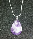 Powerful  AMETHYST  PENDANT STONE CHARM WITH A .925 STERLING SILVER NECKLACE!