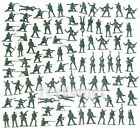 100 pcs Military Plastic Toy Soldiers Army Men 5cm Figures 12 Poses Green