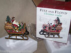 FITZ & FLOYD CHRISTMAS LODGE SANTA'S SLEIGH LARGE MUSICAL FIGURINE NIB