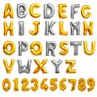 Silver Gold LetterNumber Foil Balloons Birthday Celebration Party Decor 14 16