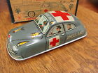 AMBULANCE CAR No. 4 VINTAGE TIN LITHO TOY by MASUDAYA /MT JAPAN in ORIGINAL BOX