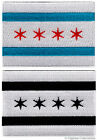 LOT TWO CHICAGO ILLINOIS CITY FLAG embroidered iron-on PATCH EMBLEM new applique