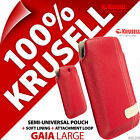 New Krusell Gaia L Large Synthetic Leather Mobile Pouch Case Cover Slim Red