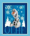 FABRIC PANEL~DISNEY FROZEN~OLAF~SNOWMAN~SNOW FLAKES~SPRINGS FABRIC