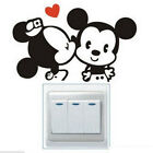 FD841 Cartoon Mouse Light Switch Funny Wall Decal Vinyl Stickers DIY 1pc