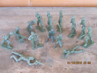 1960's  Vintage WWII Soldiers 14 pieces MPC ? TIM MEE ? MARX?