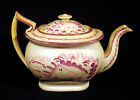 Early 1800s Antique PINK LUSTRE TEAPOT Lustreware Staffordshire Sunderland House