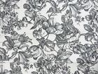 New Waverly Clair Onyx Garden Toile Valance; 36 x 18