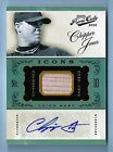 CHIPPER JONES 2012 PLAYOFF PRIME CUTS ICONS GAME BAT AUTOGRAPH AUTO 5