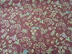 RED ROOSTER BELLA NOTTE MULTI COLORED FLORAL ON BURGANDY 1 YD