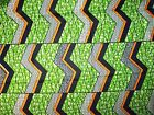 African Patterned Zigzag Chevron Print Fabric BY 1/2 YARD fancy wax cloth p608